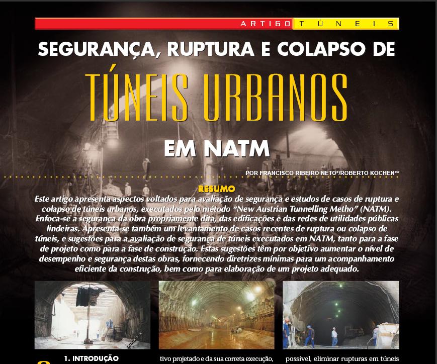 Segurança, Ruptura e Colapso de Túneis Urbanos em NATM - Dezembro/2000
