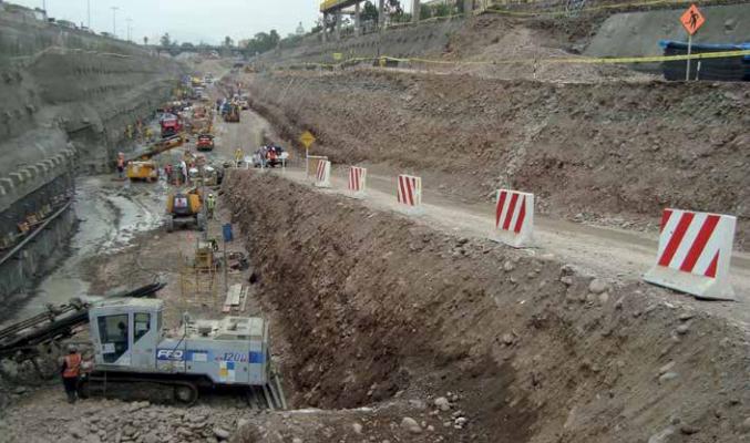Via Parque Rímac – Experiência Brasileira em Escavações, Contenções e Fundações de Viadutos e Túnel em Lima, Perú – Abril/2015