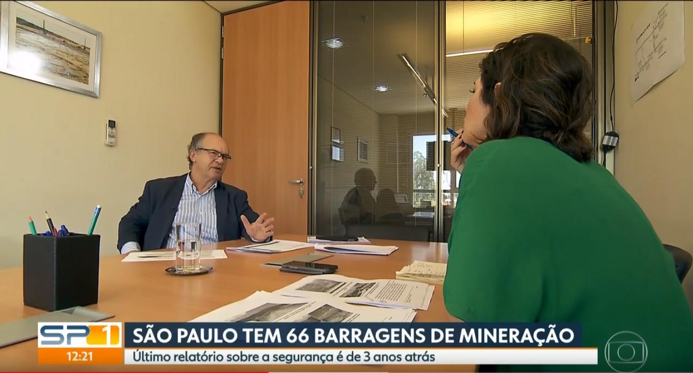 Engº Prof. Dr. Roberto Kochen - Globo SPTV 1 - Manhã - Segurança de Barragens no Estado de São Paulo - Fevereiro/2019