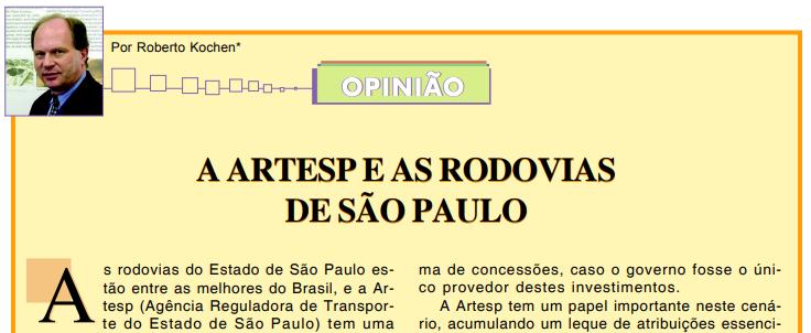 A ARTESP e as Rodovias de São Paulo