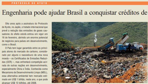 A Engenharia Brasileira e os Créditos de Carbono