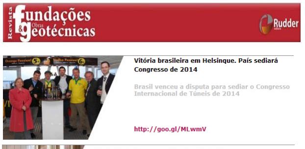 Newsletter - Revista Fundações & Obras Geotécnicas